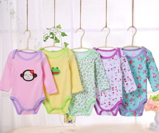 8b41eb880cf China Factory Wholesale Cheap Clothes Printed Newborn Infant Baby Romper