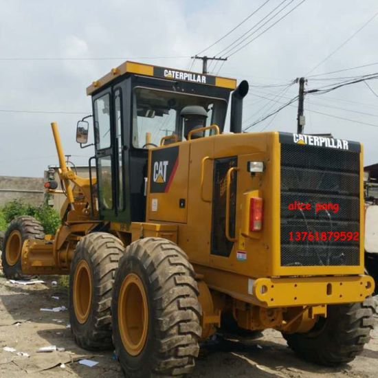 Used Hydraulic Caterpillar Good-Tyres-Wheels-Walking Motor Grader for Oman-Sohar-Port (cat-140K-2014year) pictures & photos