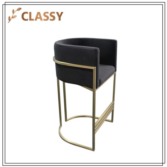 Stupendous China Stainless Steel Dining Furniture Bar Chair With Foot Machost Co Dining Chair Design Ideas Machostcouk