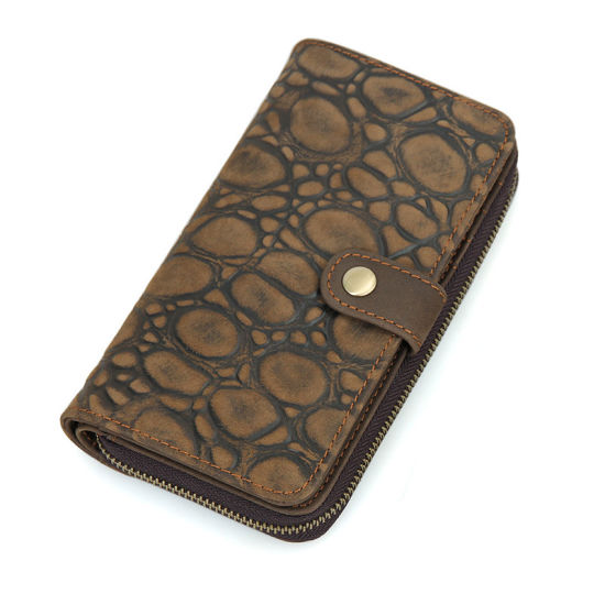 Factory Price Leisure Design Genuine Leather Credit Cards Lady Wallet