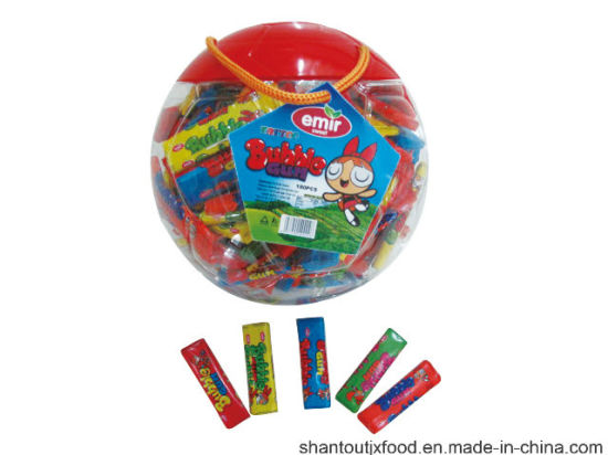 Big Football Shape Bottle Long Bubble Gum