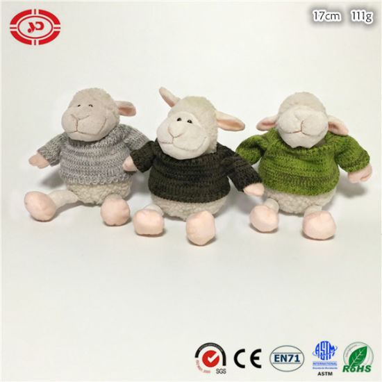 Winter Sheep Plush Soft Cute Toy Wear Sweater CE Gift