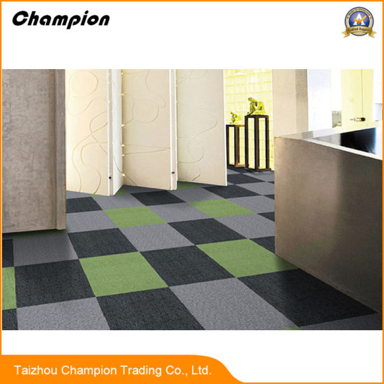 Cheap Price Commercial Carpet Tiles With Bitumen Backing For Office; PP  With Bitumen Backing Carpet Tile 50*50 Modular Office Carpet Tiles