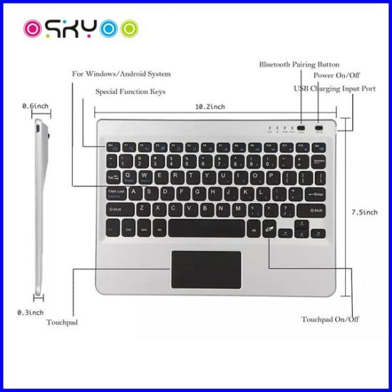 Laptop Wireless Bluetooth Touch Pad Keyboard