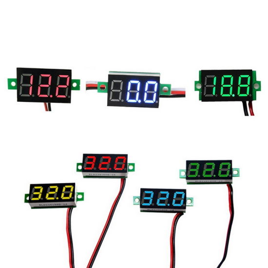 China Digital Voltmeter Led Display Mini 2 3 Wires Voltage Meter Ammeter High Accuracy Red Green Blue Dc 0v 30v 0 36 China Digital Voltmeter Ammeter Ammeter