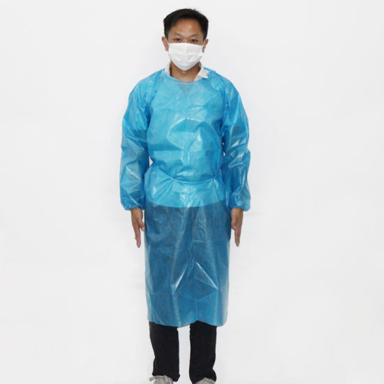 Medical Protective Surgical Gown, Visitor/Exam/Patient, Thumb Loop CPE Disposable Isolation Gown