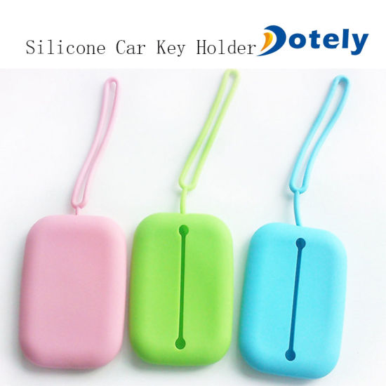 Silicone Car Key Holder for Bag Man Keychain Cover