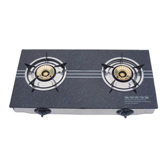 2 Burners Gas Stove Cooker for Home Cooking