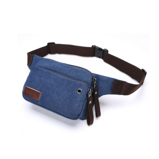 Canvas Side Fanny Pack Men High Quality Outdoor Cycling Waist Bag