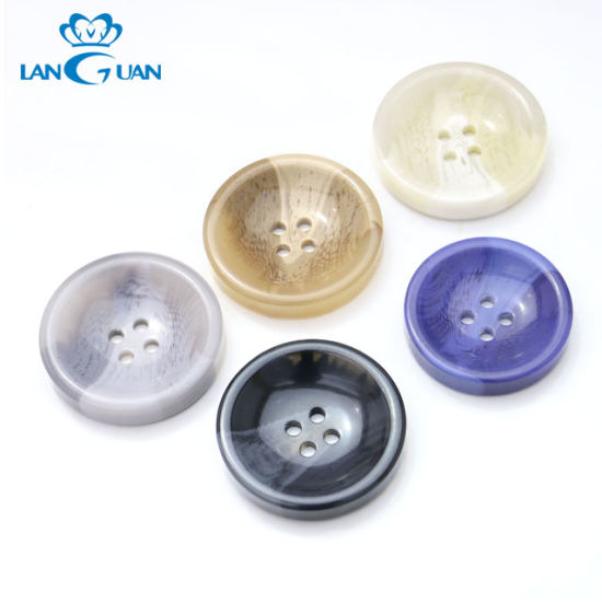 Professional Eco-Friendly 4-Holes Flatback Resin Button for Garment