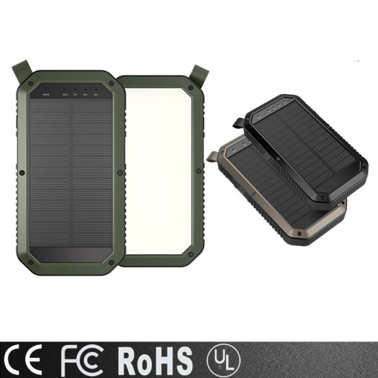2019 Newest USB Mobile Charger Solar Power Bank 8000mAh, High Quality Portable Battery Charger