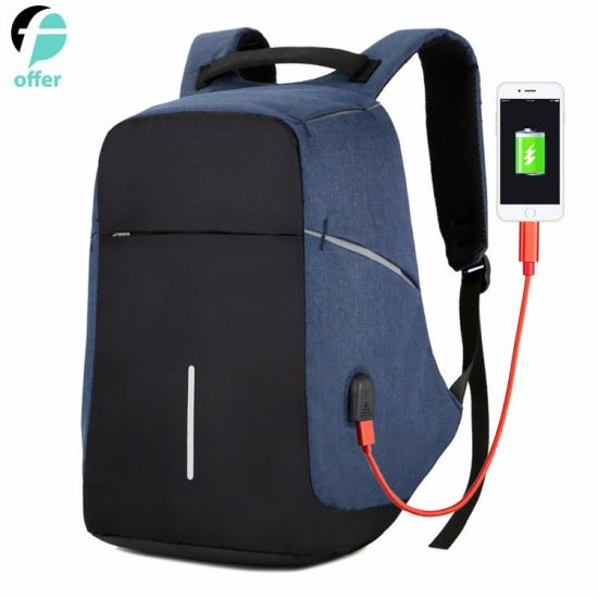 USB Charging Port with Laptop Backpack Business Travel Water Resistant Computer Bag