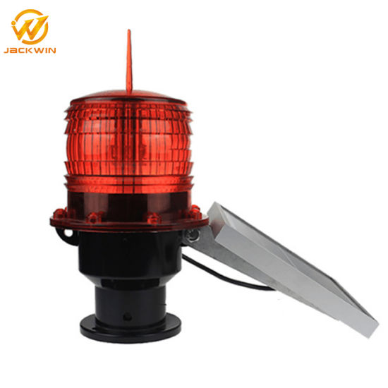 Solar Powered Aviation Obstruction Building Tower LED Warning Light Airport Runway Taxiway Rotating Beacon Lights pictures & photos