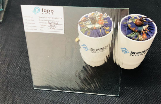 High Transparent Baroque Pattrened Glass for Hotel Decor (UCP-TP)