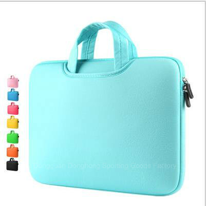 High Quality New Pure Color Waterproof and Shock-Proof Computer Bag