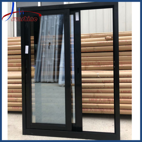 Powder Coating Black Color Thermal Break Aluminum Frame Triple Glass Sliding Windows