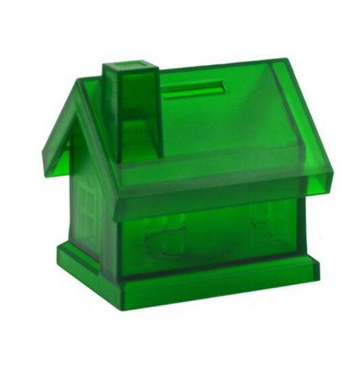Plastic Money Box for Storing Money Custom House Shape Coins Saving Bank