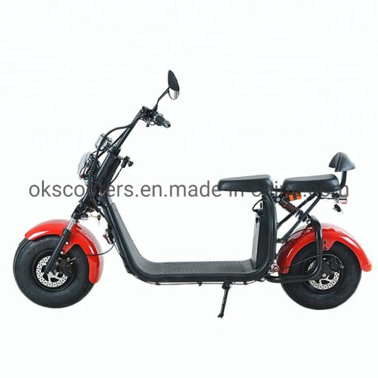 2000W 60V Two Batteries Electric Scooter City Coco