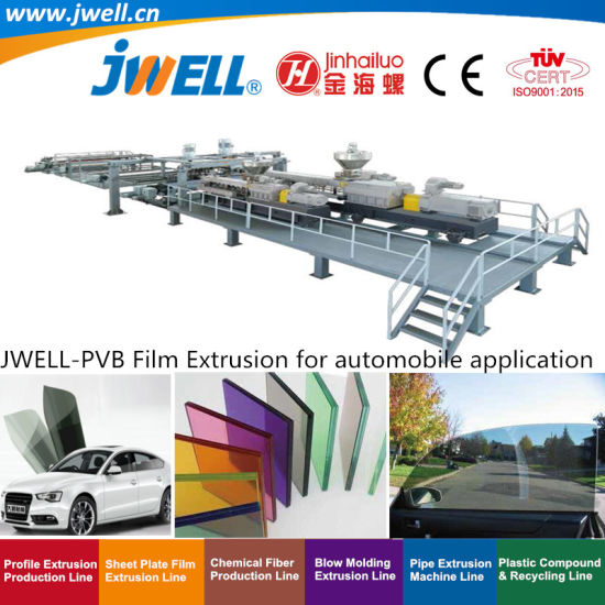 Jwell-PVB Plastic Film Recycling Making Extrusion Machine for Automobile Application Series (3)