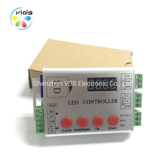 Ws2812b Ws2813 Sk6812 2048pixel 5050 RGB Colorful LED Strip Controller
