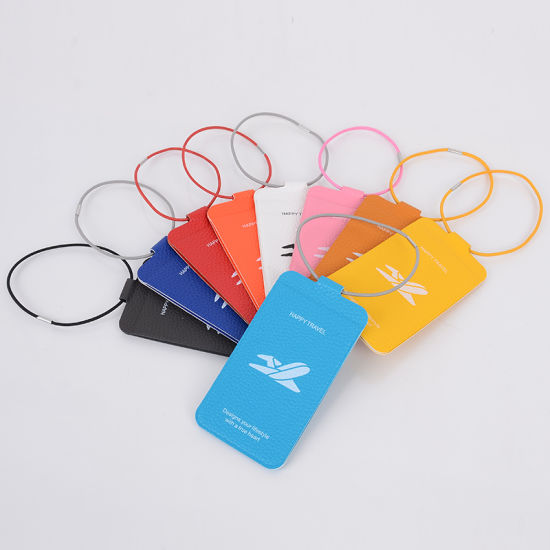 Luggage Tags For Suitcases Pvc Travel Id Identification Labels Set Bags Baggage