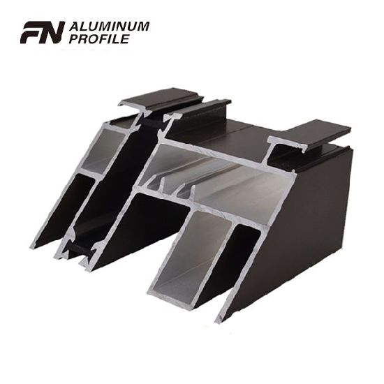 Black Color Aluminum Products of Insulated Broken with Powder Coating