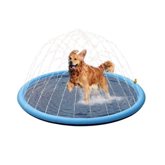 Pet Splash Pad Sprinkler Water Spray Mat Dog Inflatable Pool