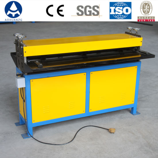 G1.2*1300 HVAC Duct Sheet Metal Five Line Electric Square Duct Beader Beading Forming Machine