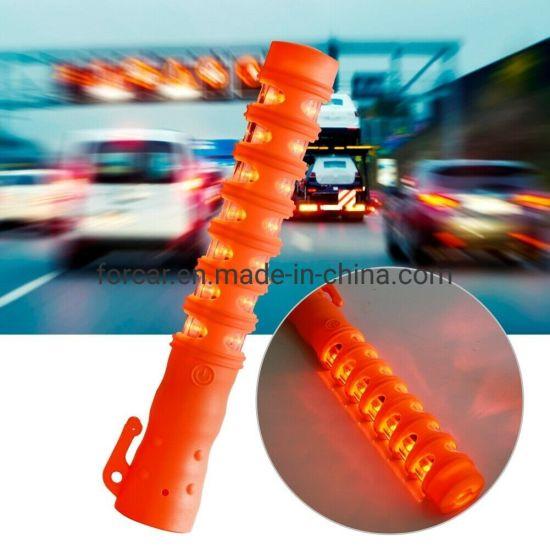 Multi-Function Warning LED Flashlight Traffic Safety Baton Light with Traffic Control Robust Design