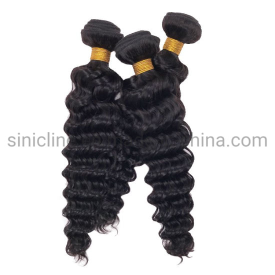 Sun Nature 2020 Remy Deep Wave No Shedding No Tangle Human Bundles Hair Weave pictures & photos