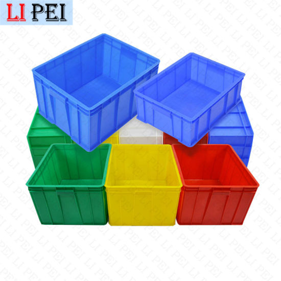 Wholesale Heavy Duty Plastic Nestable Moving Crates Stackable Turnover Storage Box with Lid
