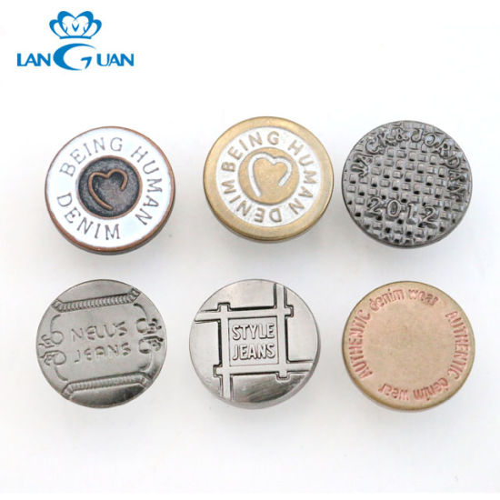 2019 High Quality Metal Jeans Rivet Button with Customize Logo