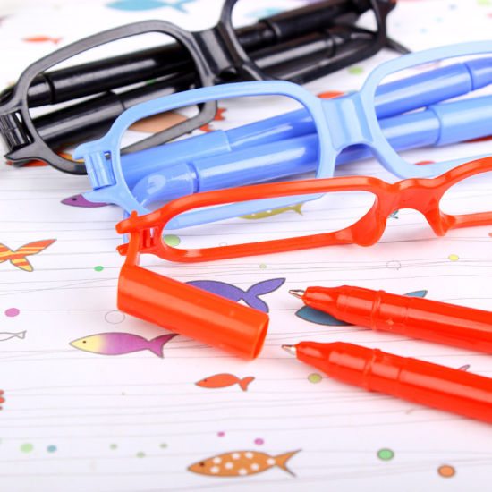 Wholesale Office and School Cute Cartoon Glasses Novelty Pens for Students  Kids Free Samples