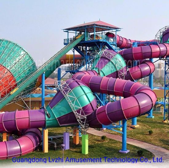 Big Water Park Equipment Fusion Water Slide