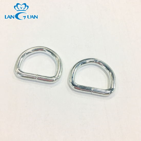 18*14*3.5mm Zinc Color Welded Iron D Ring