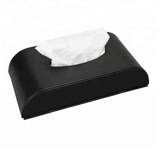 Wholesale Custom Logo PU Leather Car Tissue Box for Car