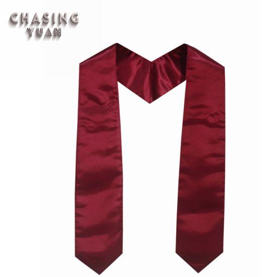 Graduation Manufacturer Wholesale Plain Graduation Stoles Maroon