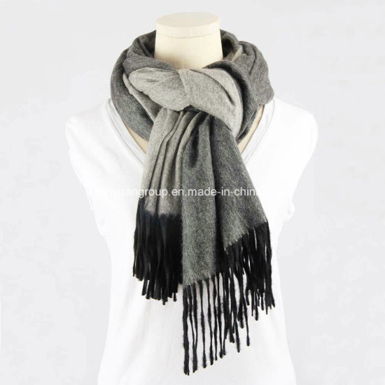 Factory Euramerican 100% Pashm Cashmere Double-Side Tie-Die Brushed Shawl Scarf