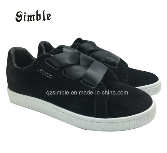 Women Lady Soft Casual Shoes with Suede Upper