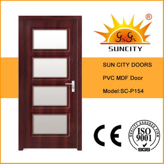 Good Price PVC Folding Interior Wooden Home Door