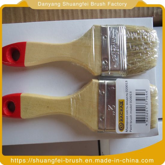Natural Bristle Acrylic Paint Brush with Wooden Handle pictures & photos