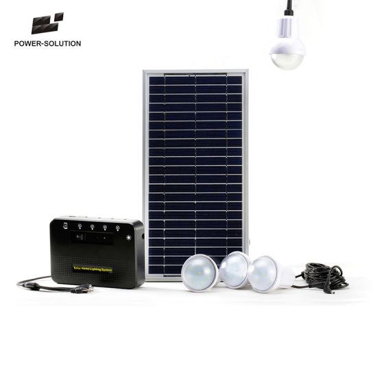 Portable Green Energy Solar Lighting System with 4 LED Bulbs for Kenya pictures & photos