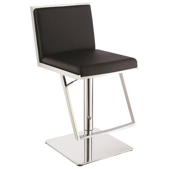 Groovy China Metal Adjustable Black Leather 36 Inch Pub Bar Stool Gmtry Best Dining Table And Chair Ideas Images Gmtryco