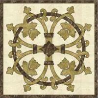 Decoration Material Marble Beige & Brown Pattern Tile/Waterjet Flooring