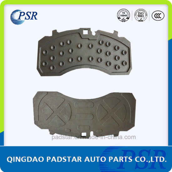 Stable Performance Truck Brake Pads Casting Iron Backing Plate for Mercedes-Benz pictures & photos