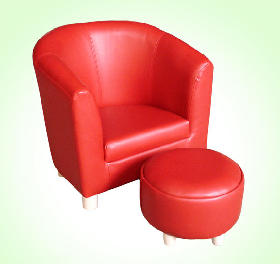 Round Back Leather Tub Chair Children Furniture (SF 64)