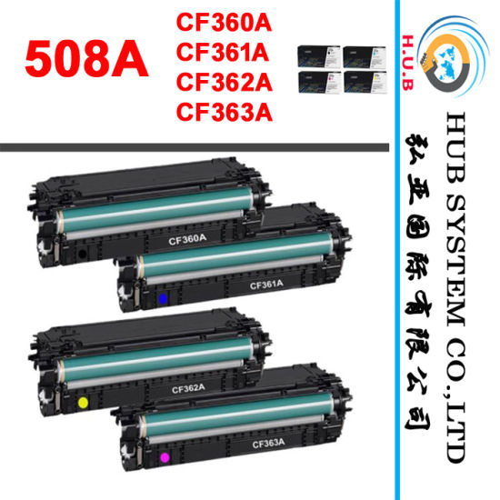 Genuine Color Laser Cartridge for HP CF360A / CF361A/CF362A/CF363A, HP 508A