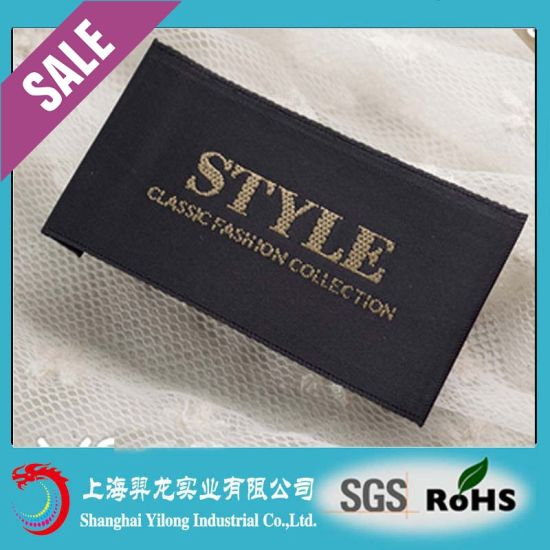 China Custom Clothing Label Maker/Custom Woven Labels for Clothing