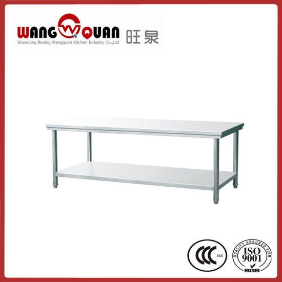 China Commercial Kitchen Stainless Steel Work Table 2 Tier with ...