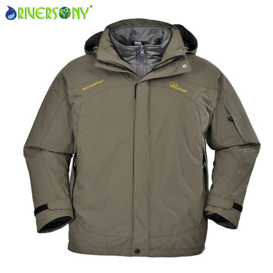 Sympatex 228t Nylon Taslon/PU Breathable 3 in 1 Jacket pictures & photos